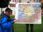 Unser Geoparkführer Herr Hopf während Erläuterungen
